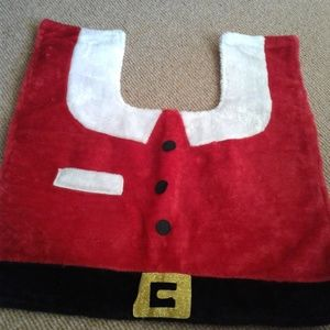 Santa Bathroom Rug & Lid Set